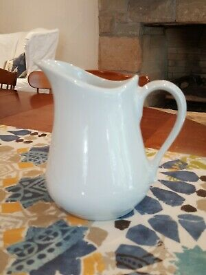 Apilco France Pitcher porcelaine large white china pitcher creamer 1ltr 6.5""