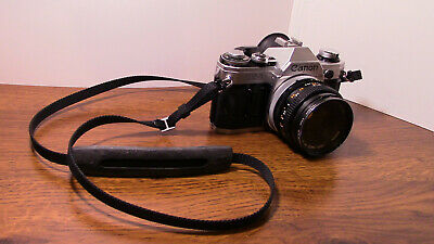 !!EXCELLENT CONDITION!! Canon AE-1 35mm SLR Film Camera FD 50 mm Lens and Strap
