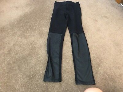girls black trousers aged 9-10.