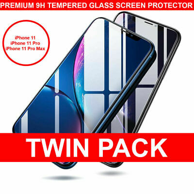 For Apple iPhone 11,11 Pro Max, XR ,XS, X Screen Protector 2 PACK Tempered Glass