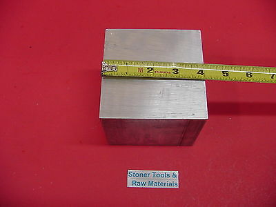 "4"" X 4"" ALUMINUM 6061 SQUARE SOLID BAR 3"" long T6511 Extruded Mill Stock"