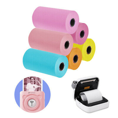 """6 Rolls Color Thermal Printer Sticker Paper 2 1/4"""" For Peripage Paperang P1/P2"""