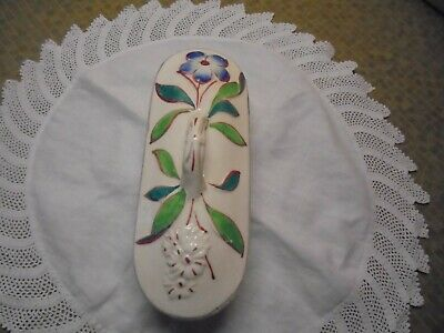 Antique/Vintage Arts & Craft/Art Nouveau Pottery Bathroom Dish + Lid