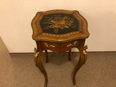 Seltener Side Table Baroque, Intarsierte Platter Very Detail Decorated RAR