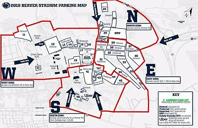 Penn State vs Rutgers Parking Pass Only