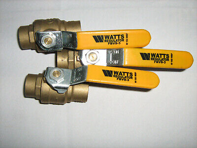 "3 - Watts 1"" Ball valves and 21- 1`"" copper fittings"