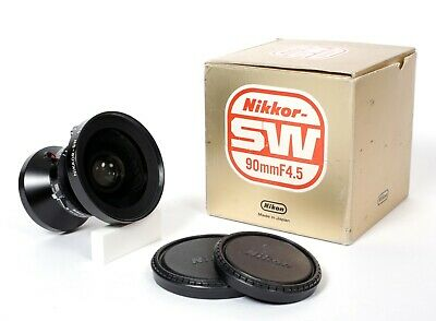 Nikon Nikkor SW 90mm F4.5 MC Lens in Copal #0 Shutter with Box