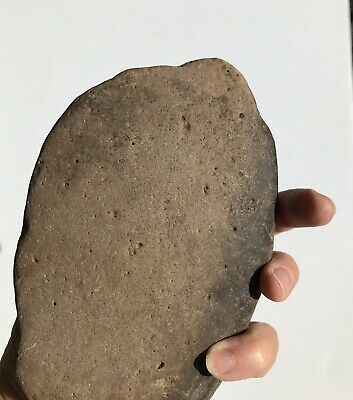 Authentic Native American Indian Scraper Large Concave Oval Shape With Carvings