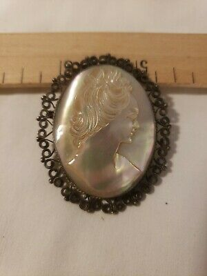 Perfect Antique Mother of Pearl Cameo French Perfect Condition Beautiful Piece