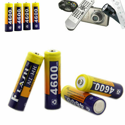 4 X Rechargeable Batteries Nimh AA 4600 mAh Power Supply Pack For Toy Flashlight