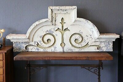 Vintage Antique Corbel Window Facade Gothic Tin Ceiling Ornament Trim White Old