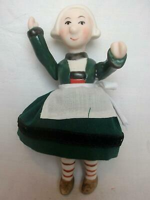 Jointed Bisque Becassine Doll Molded Clothing Ann Luree Leonard 2004 Bleuette