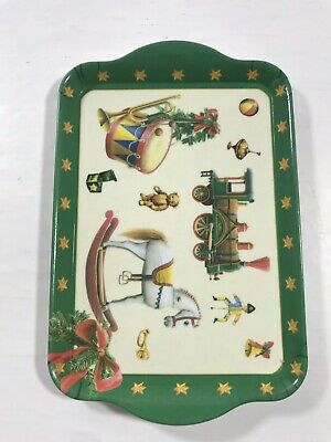 Vintage Christmas Holiday Ideal Home Range Small Tray Display Serving Dish 8X5""