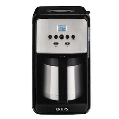 12-Cup Black/Stainless Coffee Maker