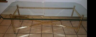 Antique Gold Glass Coffee Tables