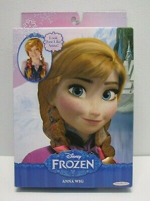 Disney Frozen Anna Wig Girls Kids Costume Play Dress Up Braids New
