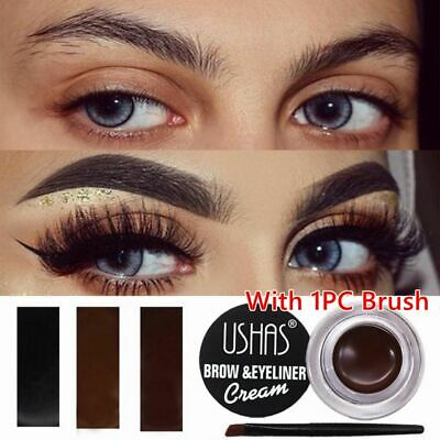3 Colors Long Lasting Waterproof Sweat-proof Eyebrow Cream With Brush Cosmetic