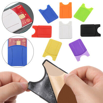 Adhesive Silicone Soft Wallet Case Card Pocket Case Pouch Phone Card Holder