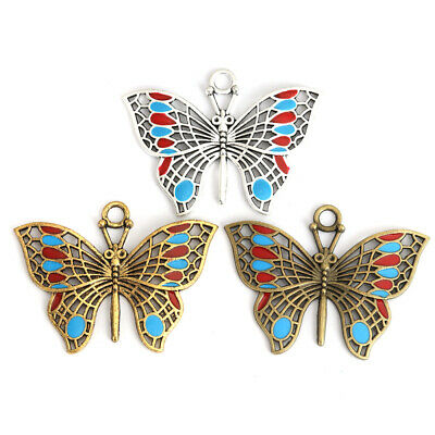 Hollow-out Butterfly Metal Charms Pendants Crafts DIY Jewelry Making Findings 3X