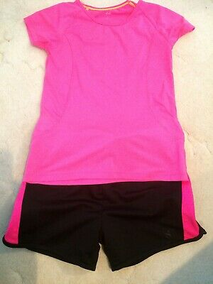 Girls sports beach swim outfit shorts and top set from H & M size 8-10 years