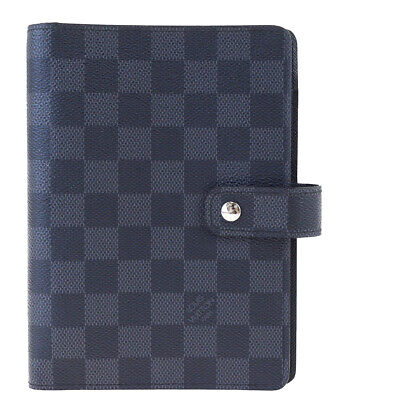 Auth LOUIS VUITTON Agenda MM Day Planner Cover Damier Graphite R20242 64SA418