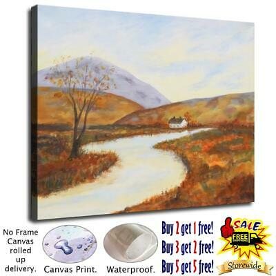 """12""""x16""""Country road HD Canvas prints Painting Home Room Decor Picture Wall art"""