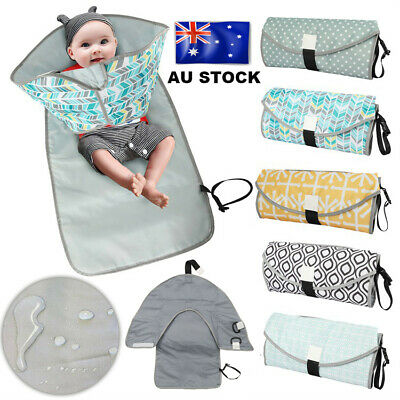 WQ 3in1 Baby Infant Changing Pad Mat Waterproof Clean Hands Clutch Change Diaper