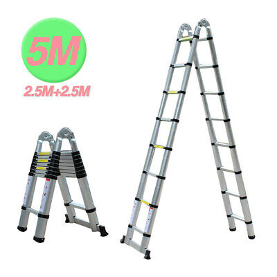 New 5 Meters Telescopic Extendable Extension Multi Purpose Folding Step Ladder