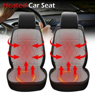 2pcs 12V Universal Front Car Seat Heated Cushion Pad Cover Heating Heater Warmer