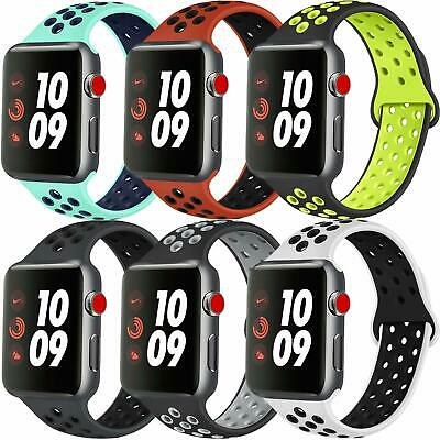 Sport Silicone Wrist iWatch Strap Band For Apple Watch SERIES 1 2 3 4 5 38-44MM