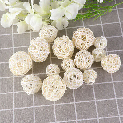 15pcs Rattan Balls Beautiful Wicker Balls for Holiday Party Wedding Decoration