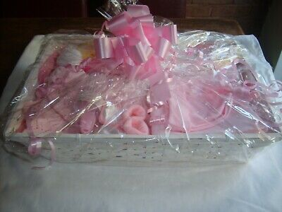 Small Gift Basket For A new Born Baby in Pink