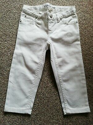 Lands'end Girls White Cropped Trousers Age 4