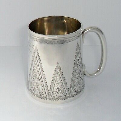 A small solid silver Victorian churn-shaped Christening can,Birmingham 1897
