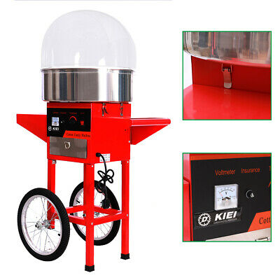 Large Electric Cotton Sugar Candy Floss Machine Maker Commercial Party Carnival