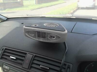 12V Car Van Dashboard Heater Fan & Windscreen Defroster with Twin LED Light