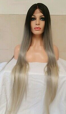 blonde human hair Lace Front wig, Ombre Blonde Wig, lace front Centre Part