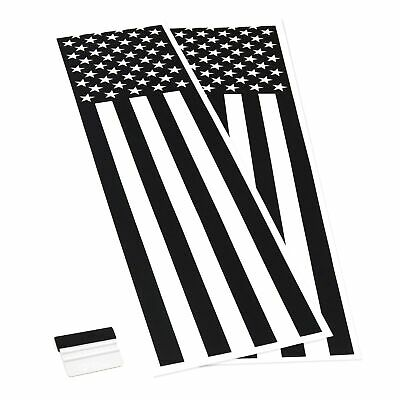 Set of 2pc Distressed American US Flags Vinyl Sticker Decal for LEFT RIGHT  V2N