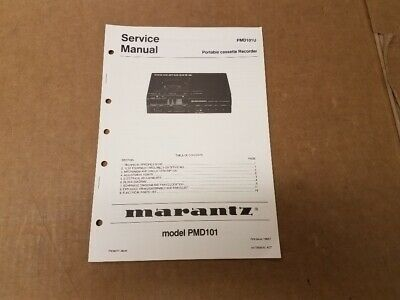 Marantz PMD720 Service Manual and Owners Manual Combination Package