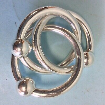 Tiffany Sterling Silver Triple Ring Baby Rattle