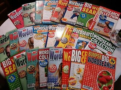Word Search Puzzle books x 6 New mixed Bundle, all different, Freepost in UK