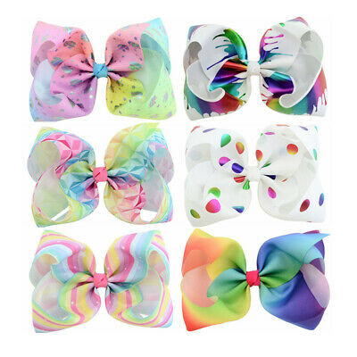 3pcs Bowknot Hair Clips 8 Inches Bowknot Hairclips for Child Children Kids Girls