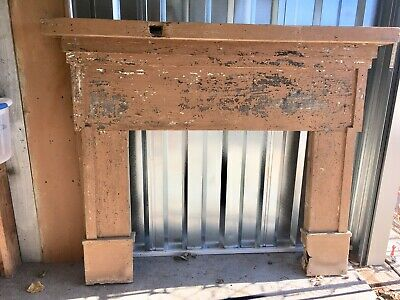 Savalged Antique Fireplace Mantle 1862 Farmhouse