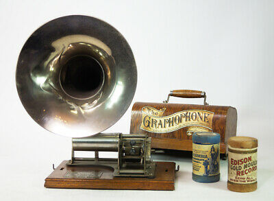 Columbia B  Phonograph Phonographen Mit Jagd Trichter