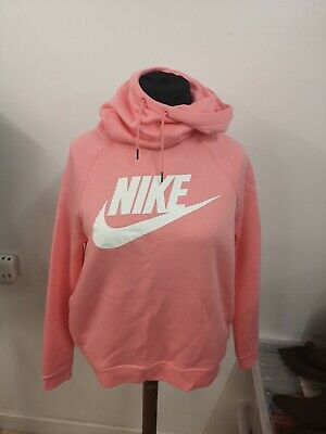 Pink Nike hoodie size L, 14-16, funnel neck BNWT