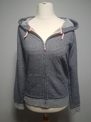 JOULES blue & white striped full zip hoodie size 12