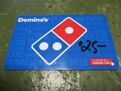 Domino's Merchandise Credit Gift Card $25.00 Value