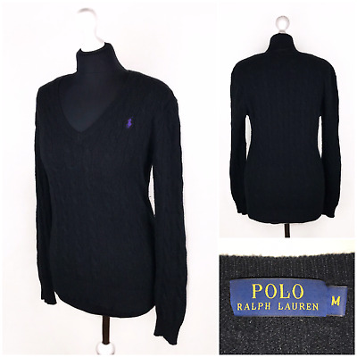 Polo Ralph Lauren Women's Sweater Jumper V-Neck Wool and Cashmere Size M