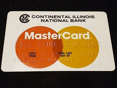 Continental Illinois National Bank MasterCard~ exp 84♡Free Shipping♡cc430♡