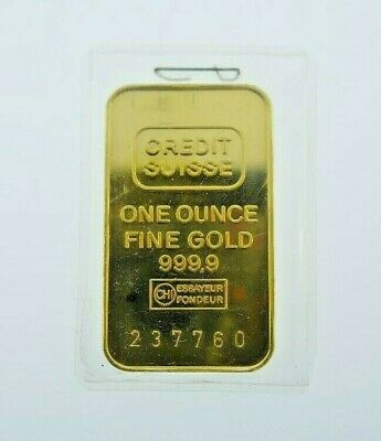 CREDIT SUISSE One Ounce Fine Gold 999,9 Bar